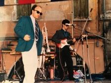 Massimo Donà con Maurizio Trionfo in concerto nella seconda metà degli anni 80 (Mestre)