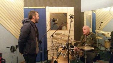Michele Polga e Davide Ragazzoni si scambiano alcune idee prima della registrazione