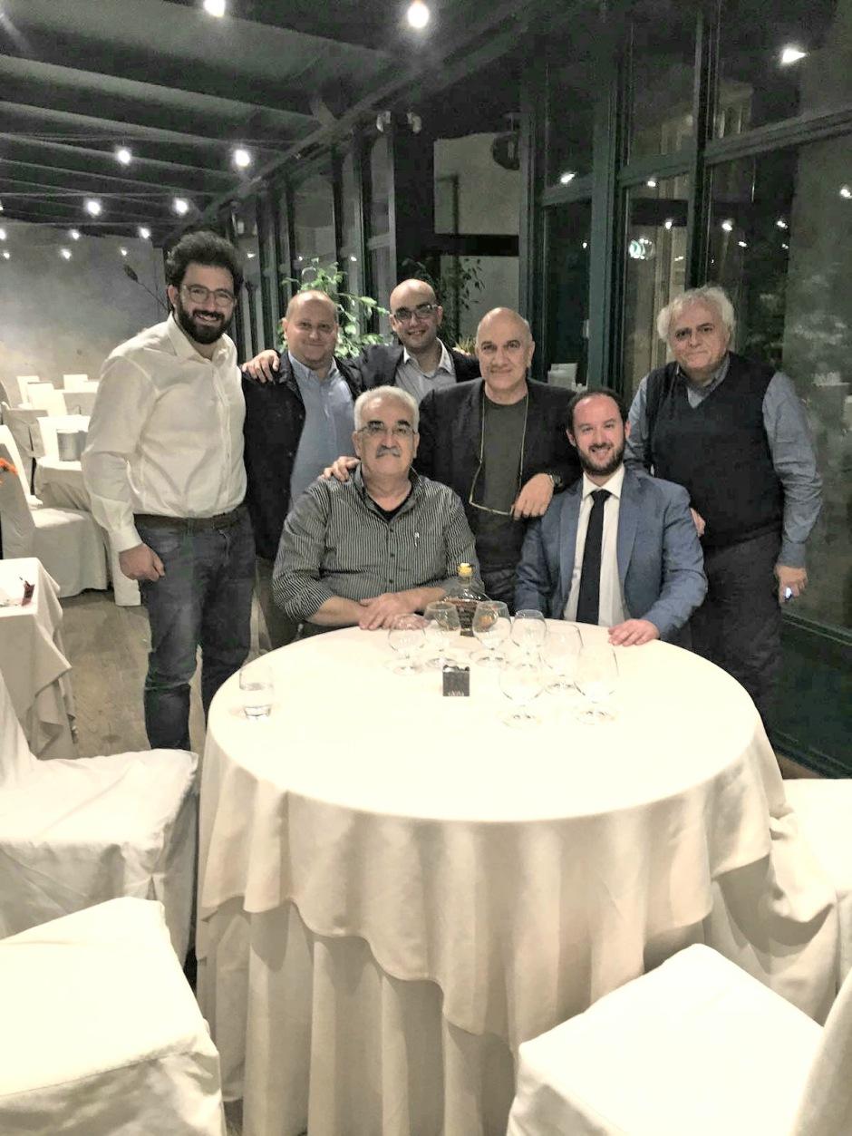 6 ottobre 2017 CESANO MADERNO. Come ai vecchi tempi... Massimo Donà con Alfredo Gatto, Federico Croci, Marco Bruni, Andrea Tagliapietra, Giacomo Petrarca e Sandro Vitiello AL FAUNO.
