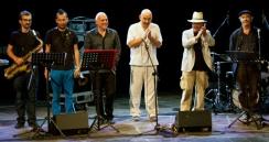 Massimo Donà con David Riondino, Davide Ragazzoni, Bebo Baldan, Michele Polga, Francesco Bearzatti a ROCCELLA JONICA