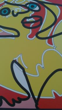 Frammento di opera di Massimo Donà esposta durante la mostra ai Magazzini delle Zattere del 2012