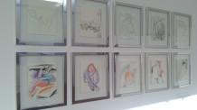 Disegni di Massimo Donà esposti durante la mostra ai Magazzini delle Zattere del 2012