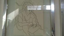 Disegno di Massimo Donà esposto durante la mostra ai Magazzini delle Zattere del 2012