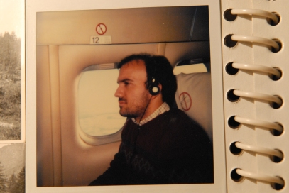 Massimo Donà in aereo