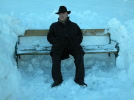 Massimo Donà in mezzo alla neve... a Cortina d'Ampezzo.