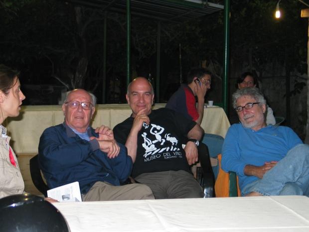 Massimo Donà con Emanuele Severino e Antonio Gnoli al Festival %22IL VENTO DEL CINEMA%22 2005 a Procida