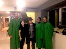 23 dicembre 2015 - al CANDIANI di Mestre. Dopo il concerto di THE GOSPEL FOUR... gruppo newyorkese di grande impatto !!! Ecco, in questa foto Massimo Donà con i protagonisti del fantastico concerto gospel !