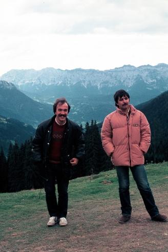 Massimo Donà con Maurizio Caldura ai tempi dei JAZZ FORMS (a San Martino di Castrozza)