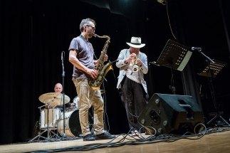 Massimo Donà, Davide Ragazzoni ad Erbusco (2017) - foto di Marco Foglia