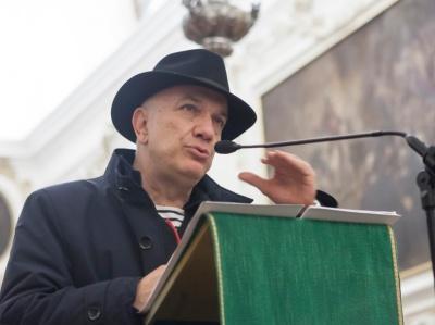 Massimo Donà durante la conferenza con CARLO INVERNIZZI ad Astino (20 ottobre 2015)