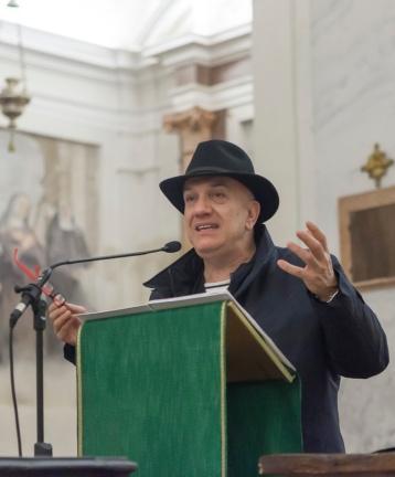 Massimo Donà durante la conferenza con CARLO INVERNIZZI (ottobre 2015)