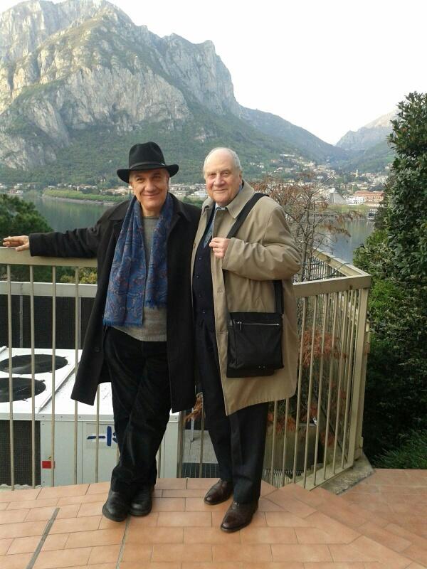 Massimo Donà e Carlo Sini a LECCO il 12 aprile 2016 prima della conferenza su %22L'ARTE, IL SAPERE, IL SOGNO%22