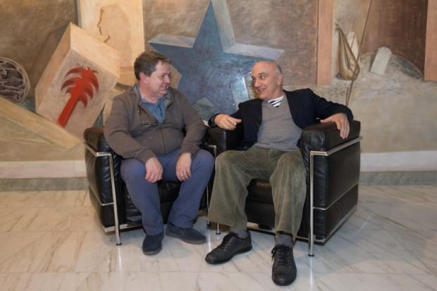 Massimo Donà e Giulio Brotti (4 maggio 2017 - BERGAMO, al festival FARE LA PACE)