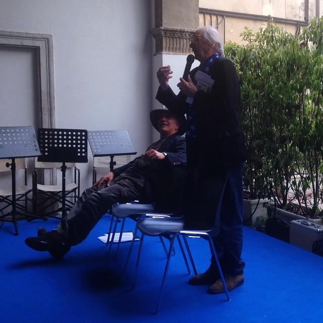 Massimo Donà e Italo Zannier a CONEGLIANO nel 2015jpg