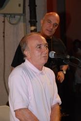 Massimo Donà e Claudio Donà a MIRANO, prima di un concerto del trio di Massimo Donà. Presenta Claudio Donà.