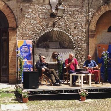 Massimo Donà. Gabriele Da Prato e Giampaolo Gravina - giugno 2016 - AMELIA - Ciclopica. Giganti in collina. MILES OF GRAPES. Viaggio dal vino al jazz