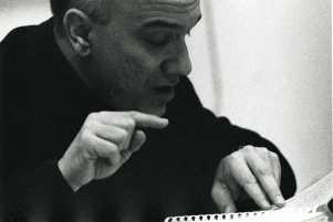 Massimo Donà, mentre fa lezione...