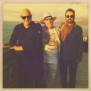 Massimo Donà, Davide Ragazzoni e Michele Polga, al tramonto... a CASTELSARDO, prima del concerto serale. 20 settembre 2015.