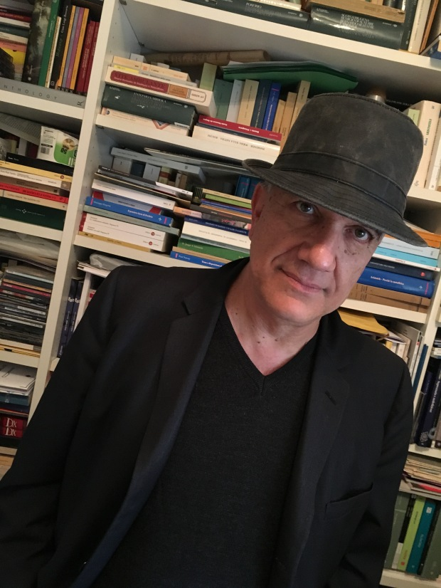 Massimo Donà with his new hat