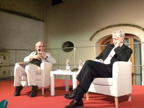 Massimo Don+á e Corrado Augias al FESTIVAL DELLA POLITICA 115 copia