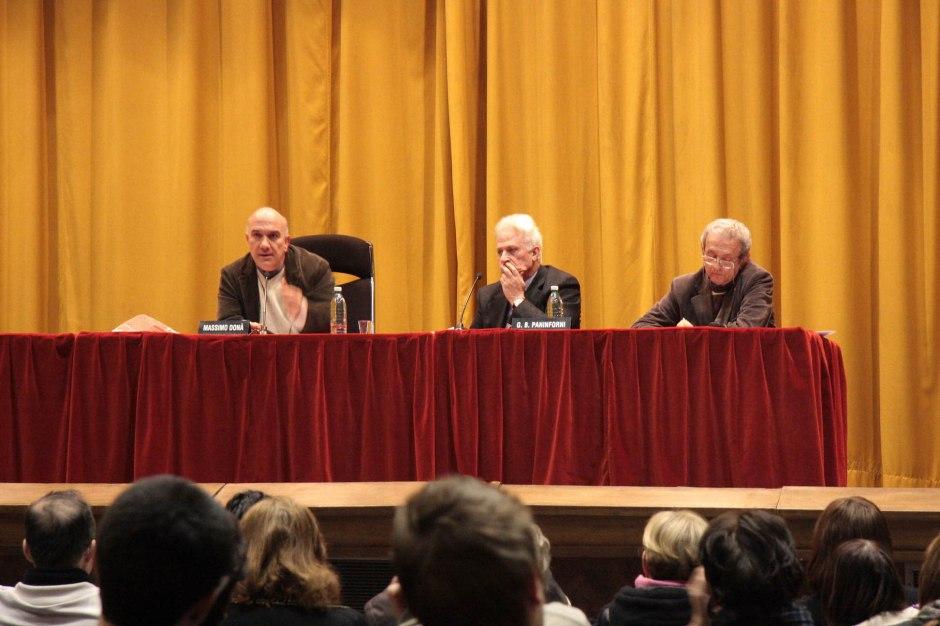 Massimo Don+á in conferenza a Bergamo - presentato da Paninforni