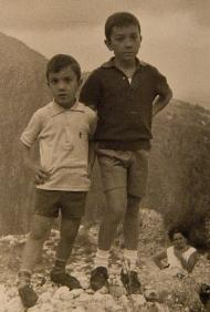Massimo e Claudio Donà... sulle vette ! (la mamma li osserva da dietro)