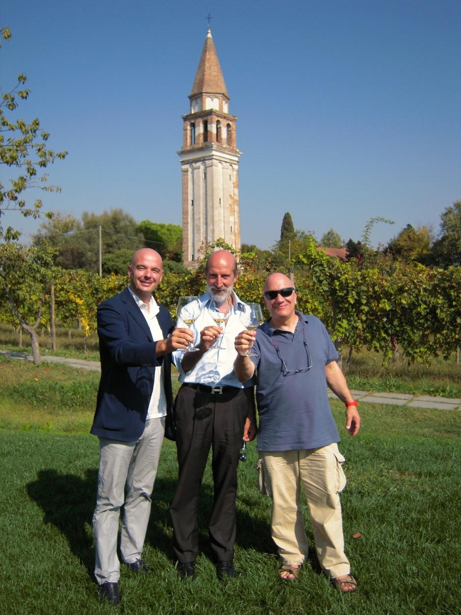 MAZZORBO (VE) Gianluca Bisol, Luca Maroni e Massimo Donà - Photo Cinzia Armanini