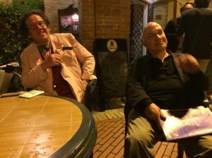 Philippe Daverio e Massimo Donà al bar, a BELFORTE, vicino a Tolentino
