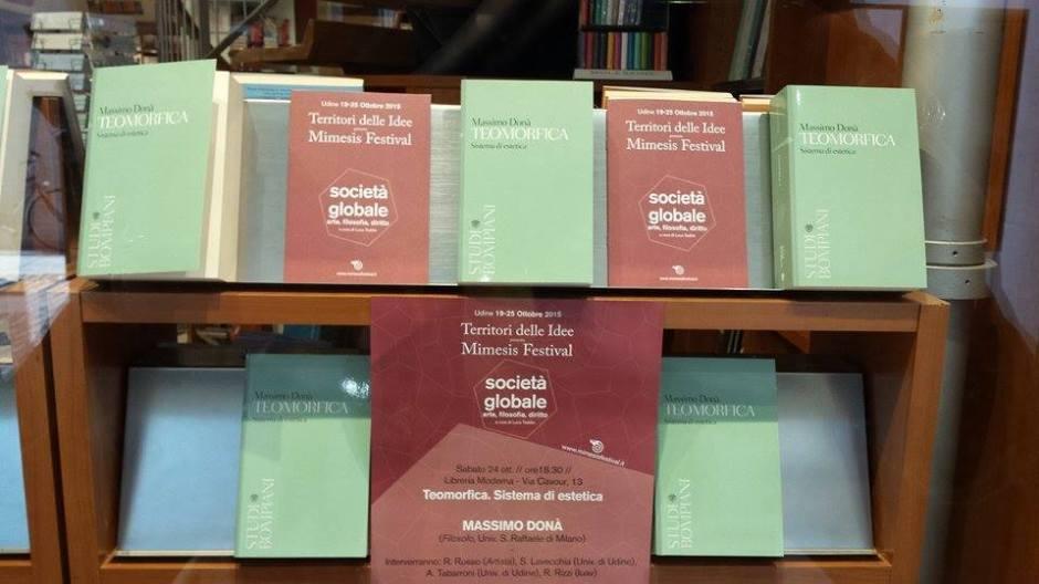 Vetrina su Teomorfica – Libreria Moderna di UDINE | Massimo Donà