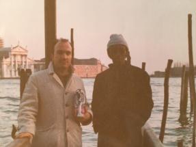 Massimo Donà a Venezia con il mitico Marion Brown (straordinario esponente della New Thing)... credo nella prima metà degli anni 80