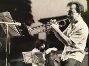 Massimo Donà alla tromba, verso la fine degli anni 70