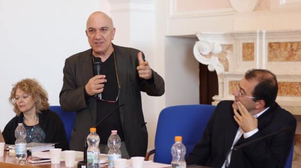 Massimo Donà con Enrica Lisciani Petrini e Massimo Adinolfi a SCALA (Salerno, 23 ottobre 2017)