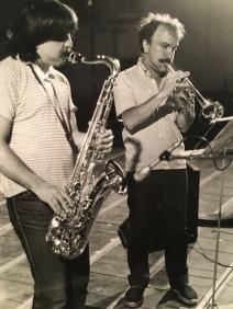 Massimo Donà con Maurizio Caldura in concerto verso la fine degli anni 70