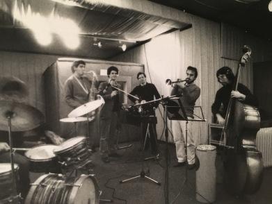 Massimo Donà durante le prove con Jacopo Iacopetti e Giko Pavan, a Padova