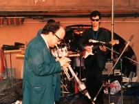 Massimo Donà e Maurizio Trionfo in concerto a Mestre nella prima metà degli anni 80