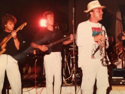 Massimo Donà e Stefano Olivato in concerto a Jesolo (anni 80)