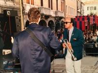 Massimo Donà e Stefano Olivato in concerto (anni 80)