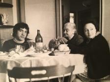 Massimo Donà e sua madre Maria Manzi, a tavola