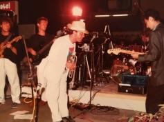 Massimo Donà in concerto a Jesolo con Stefano Olivato e Maurizio Trionfo (anni 80)