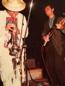 Massimo Donà in concerto a Jesolo nella seconda metà degli anni 80 con Maurizio Trionfo