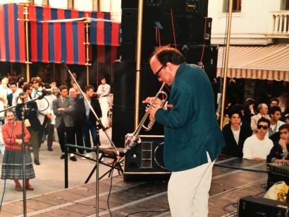 Massimo Donà in concerto a Mestre (anni 80)