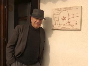 Massimo Donà, sull'uscio del CLAN VERDURIN a San Pietro di Feletto, il 29 ottobre 2017