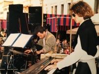 Matteo Lucchesi e Daniele Cimitan in concerto con il Massimo Donà SEPTET a Mester nella prima metà degli anni 80