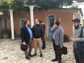 A SCALA (costiera amalfitana) - durante una riunione della redazione della rivista IL PENSIERO (nell'ottobre del 2017) - si vedono Davide Grossi, Giulio Goria, Filippo Silva, Giuseppe Pi