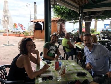 Al festival jazz di ROCCELLA JONICA - Bearzatti e compagna con MICHELE POLGA