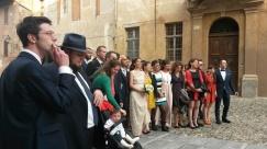Al matrimonio di ALFREDO GATTO (Saluzzo) - in primo piano GULIO GORIA e DAVIDE GROSSI