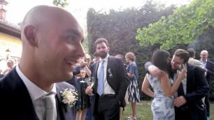 Alfredo Gatto, Giacomo Petrarca, Davide Grossi e altri ex compagni di Università al matrimonio di ALFREDO a SALUZZO