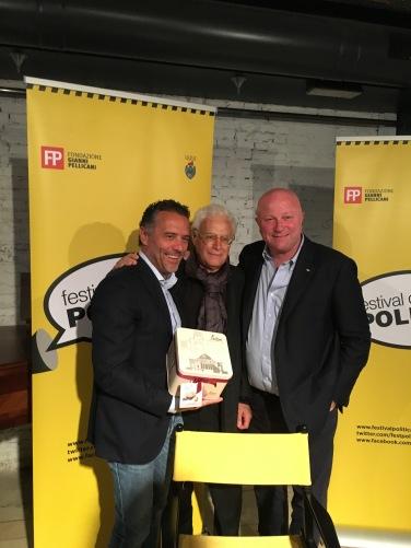Durante il festival della politica di Mestre nel 2017 - Gianni Moriani con DARIO LOISON E GIANCARLO PERBELLINI... DUE MITI DELLA PASTICCERIA VENETA