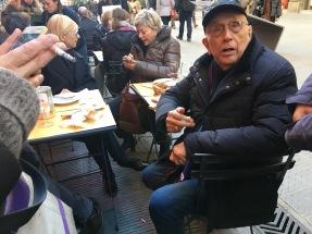 Franco Fontana e la moglie a Firenze il 29 dicembre 2017