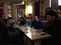 Giacomo Petrarca, Davide Grossi con alcuni amici durante la permanenza a PARIGI nel 2016 (nel BAR dove hanno girato alcune scene di AMELIE)